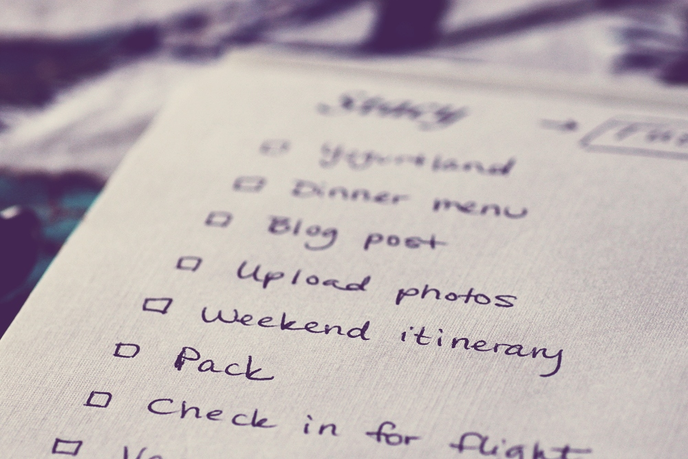 productive habits, to-do list